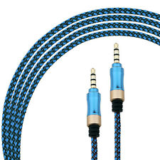 3.5mm AUX 3FT Male to Male Braided Fabric Stereo Audio Cable Cellphone headphone