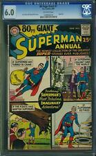 80 PAGE GIANT #1 CGC 6.0 Superman app! Kurt Swan art! 1964