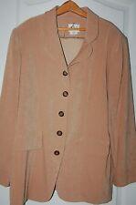 Leslie Fay women's blazer jacket suit coat soft camel tan size 16