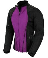 Women Motorbike Waterproof Motorcycle Cordura Jacket All Weather Armoured Coat