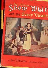 Very RARE C1937 Walt Disney's SNOW WHITE and the SEVEN DWARFS Whitman Publishing