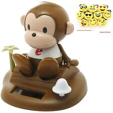 Solar Bobble Head Toy Figure, Monkey New