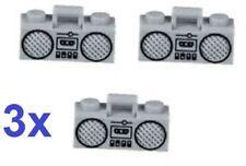3x BN Lego City radio stereo player music cassette fitness light grey radio bulk