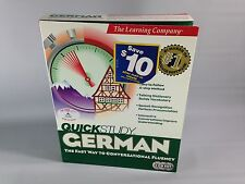 Quick Study German (CD-ROM/1999/Windows 98) The Learning Company NEW/SEALED!