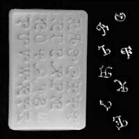 Alphabet Silicone Mold Necklace Jewelry Resin Mold K4P1 Epoxy DIY Mold G6U3