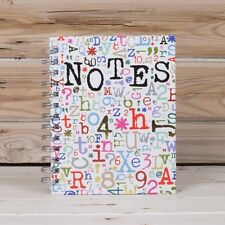 NOTES Book Notebook pad 15 x 19cm Spiral bound Numbers & letters New