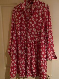 Plus Size Floral Flowy Dress Size 22