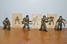 Vintage MARX WARRIORS OF THE WORLD Military Figurines & Cards Lot Toy Soldiers