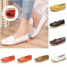 Zapatos de cuero Mujer Casual Oxfords Mocasines confort Flats Nuevos guisantes Ballet Barco