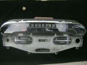 1958 Chevy Impala - Bel Air Dash Cluster Speedometer with Gauges STUNNING 58