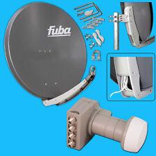 FUBA DAA 850 DIGITAL Sat Anlage Spiegel Antenne + Quattro DEK 406 LNB HDTV 3D