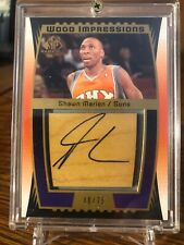 2004-05 UPPER DECK SP GAME USED WOOD IMPRESSIONS AUTO SHAWN MARION /75 Suns RARE