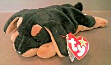 "Beanie Babies, ""Doby"", the Doberman, P.V.C.,1996, Brand New-Mint, has tag errors"