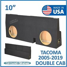 "Fits Toyota Tacoma Double-Cab 2005-2018 10"" Dual Sub box Sub woofer Enclosure"
