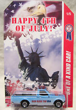"Hot Wheels CUSTOM DATSUN 620 ""Happy 4th Of July"" Real Riders 1/5 Made !!!"