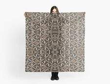 DESIGNER STYLE SCARF w/Exclusive African Art Design~Kuba Cloth Pattern Design #2