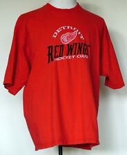 Detroit Red Wings Hockey Club Embroidered Red S/S T-Shirt XXL