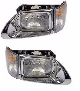 For International 9200 9400 93-14 Set Of Left & Right Headlight Assembly Dorman