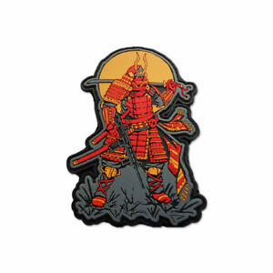 Tactical Combat Morale Jacket Patch Badge PVC Hook and Loop by BASTION - Samurai