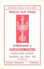 WREXHAM v SWANSEA TOWN Welsh cup Final at Cardiff  1957