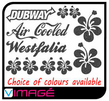VW Camper Stickers Decals Hibiscus Air Cooled type 2 t1