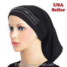 Luxor tube Hijab Cap #1 Black underscarf  beanie woman Islamic clothing