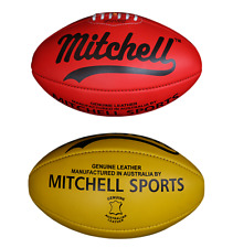 FOOTBALL AFL Two Balls Yellow and Red Combo