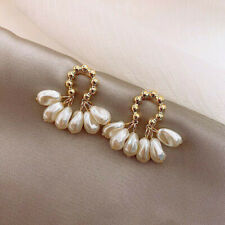 2020 Fashion 925 Silver Pearl Tassel Earrings Stud Ear Woman Party Jewelry Gift