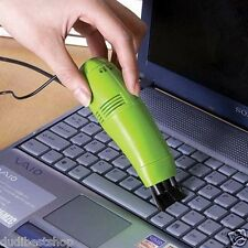 brush Small Vacuum Cleaner notebook Clean PC Keyboard Sweeper USB Port Hygiene /