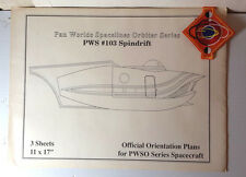 Vintage PWS Orbiter Series #103 Spindrift Blueprints w Patch- Land of the Giants