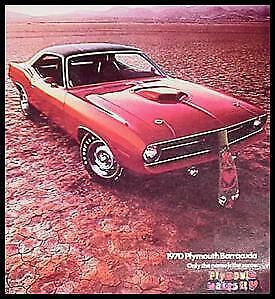 1970 Plymouth Barracuda Brochure-  Gran Coupe, 'Cuda Convertible MoPar Xlnt