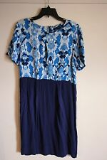 French Connection Dress Short Sleeve Blue BNWT Size 12