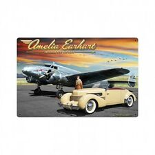 Amelia Earhart Metal Sign - Hand Made in the Usa with American Steel