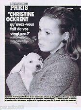 COUPURE DE PRESSE CLIPPING 1990 Christine Ockrent  (3 pages)