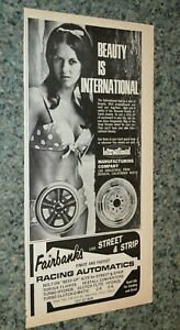 ★1968 INTERNATIONAL WHEELS ORIGINAL ADVERTISEMENT AD 68 MAGS RIMS