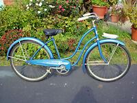 VTG 1950s ROLLFAST LADIES BICYCLE W/DELTA HEADLAMP BY DP HARRIS HWE & ? CO N.Y.