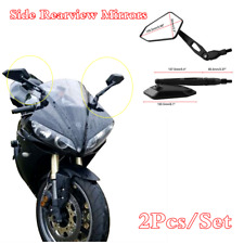 2Pcs Billet Aluminum Universal Rear Side Rearview Mirrors For Motorcycle Bike