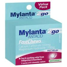 Mylanta Fast Chews Value Pack 24 Tablets Heartburn & Indigestion Relief