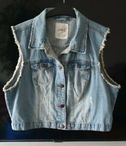 Denim Co Ladies Denim Waistcoat Size 18 Plus Size