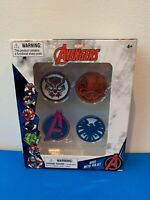 Marvel Avengers 4 Piece Metal Pin Set NEW IN BOX