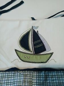 Nautica Kids  Diaper Stacker Blue Sailor Boat Plaid Newborn Gift