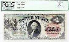 1869 FR.18 ONE $1 DOLLAR BILL STAR NOTE Rainbow Sawhorse SIGNED TREASURER WYMAN