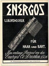 Energos Lebenswecker Für Bart und Haar Dresden XXL- Historische Annonce II.1907