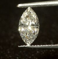 GIA certified loose .64ct I1 F Marquise Natural fancy cut diamond estate