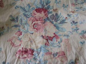 """Vintage Ralph Lauren Elsa Grasslands Twin Bedskirt Dust Ruffle 12.5"""" Floral Read"""