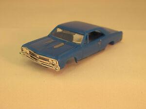 MODEL MOTORING BLUE '67 CHEVELLE SHELL ~ NEW ~ FITS AURORA TJET