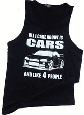 All i care about is cars tank top car automotive mechanic mens small tank top