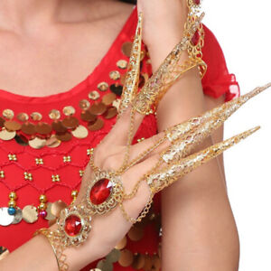 New Extension Belly Dance Lengthened Nail Hand Bracelet Nail Cover AccessorN_cd
