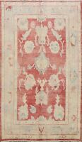 All-Over Authentic Oushak Hand-knotted Muted Turkish Area Rug Vegetable Dye 6x9