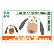 Medical In case of Emergency card Dogs at Home